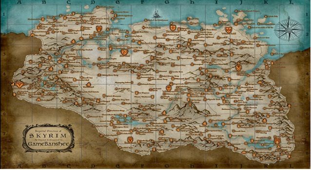 Sly image within printable skyrim map