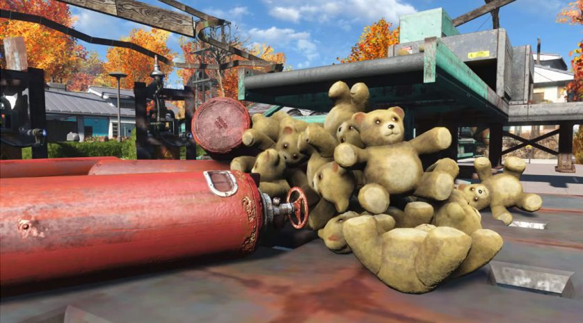 Fallout 4 Rube Goldberg teddy bears