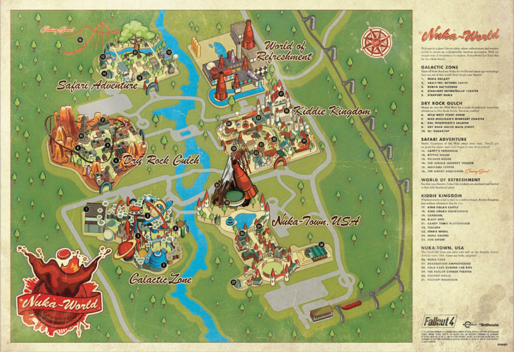 fallout 3 map printable with Check Out Fallout 4s Nuka World Early With This Disney Style Park Map on 4646 besides 8989 further File Golden Banana SMW3D together with Destiny Controls Ps4 Xbox One Layout Guide as well World Map Blank.