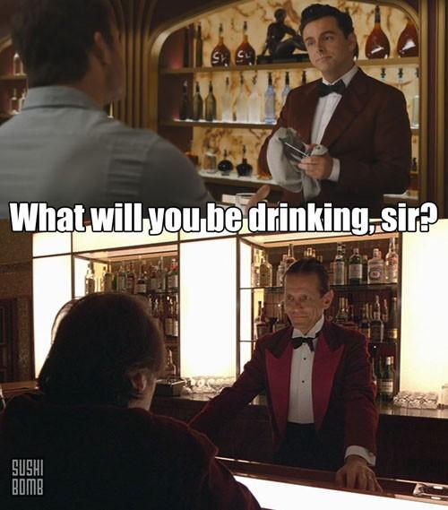 Plus - Michael Sheen as the bartender! {via SushiBomb}