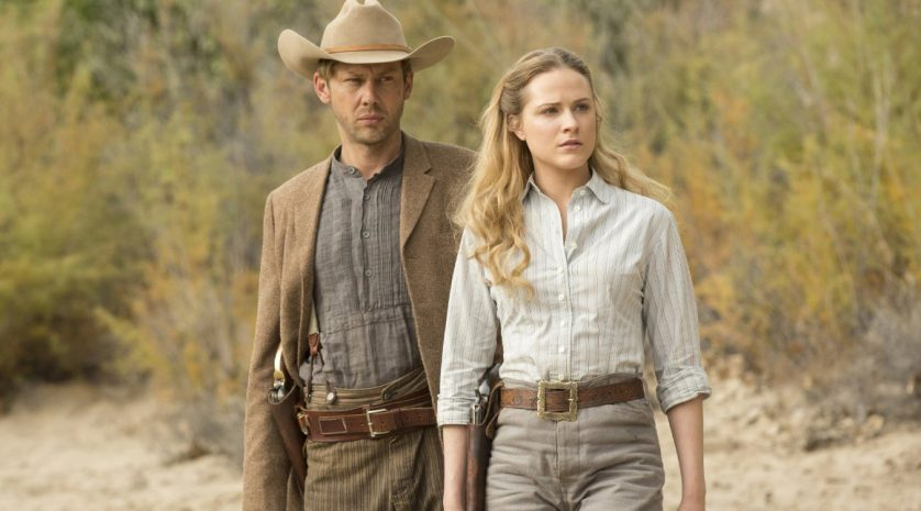 Jimmi Simpson and Evan Rachel Wood in Westworld 108