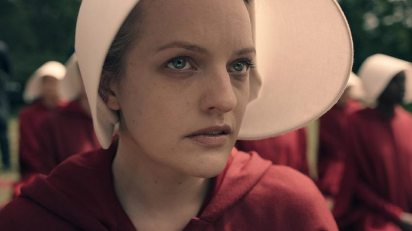 Elizabeth Moss as Offred - photo courtesy of Hulu.