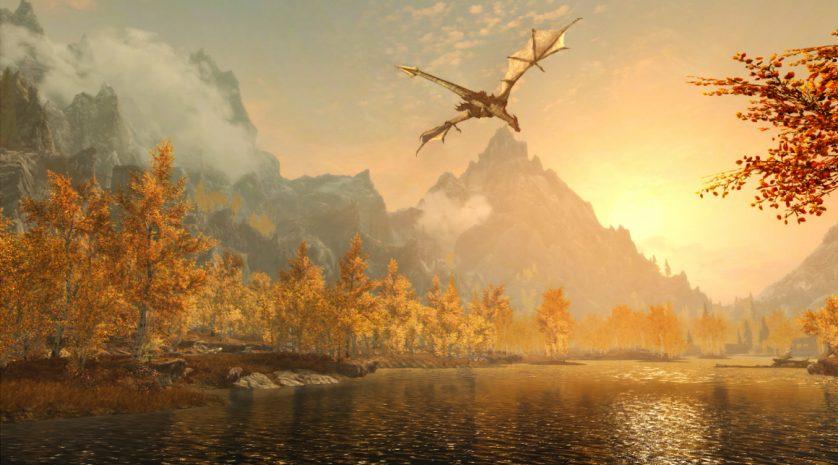Skyrim Special Edition dragon
