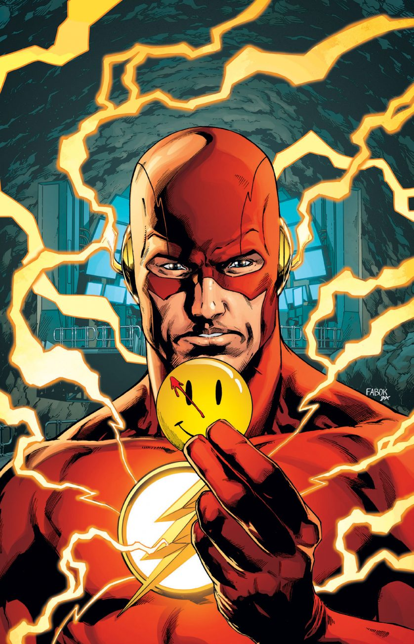 THE FLASH IMAGE FROM THE BATMAN #21 LENTICULAR COVER