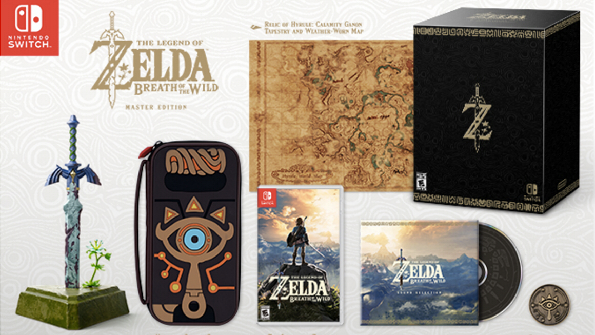 Zelda breath of the wild special editions and amiibo for Housse zelda nintendo switch