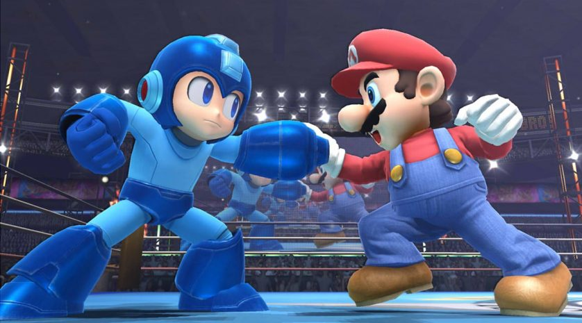 Super Smash Bros Wii U Mario and Mega Man