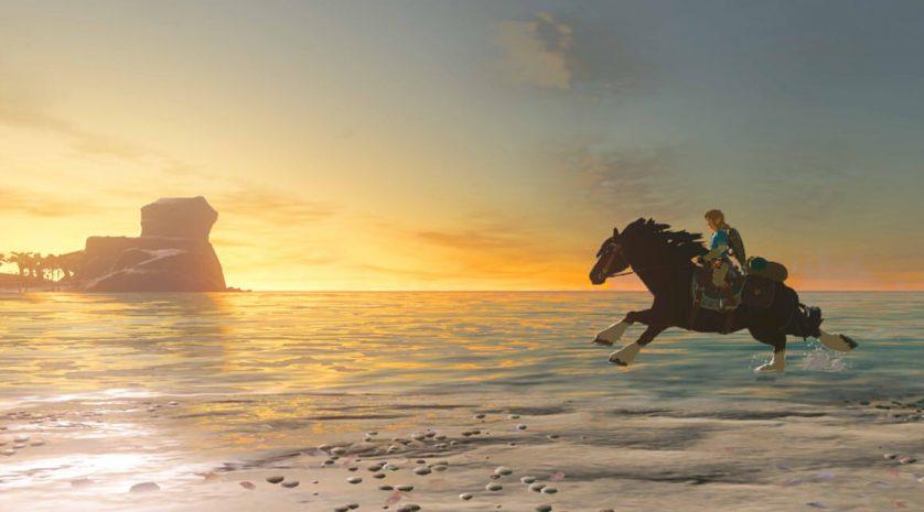 Zelda Breath of the Wild horse beach
