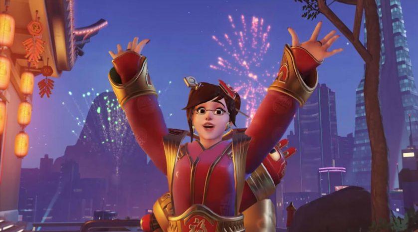 Overwatch Mei fireworks