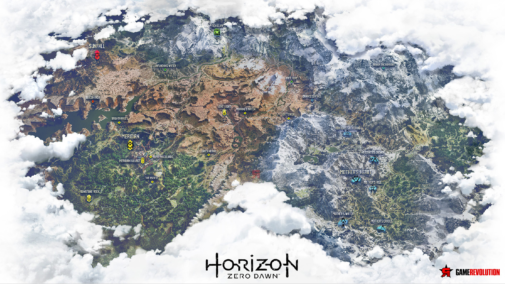 Check out the incredible leaked world map for horizon zero dawn egmnow i dont know what it is about the worlds in video games that puts deserts snow capped mountains forests lakes and tundra so close to each other gumiabroncs Images
