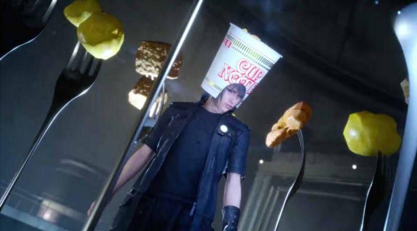 FFXV Noctis Cup Noodle hat