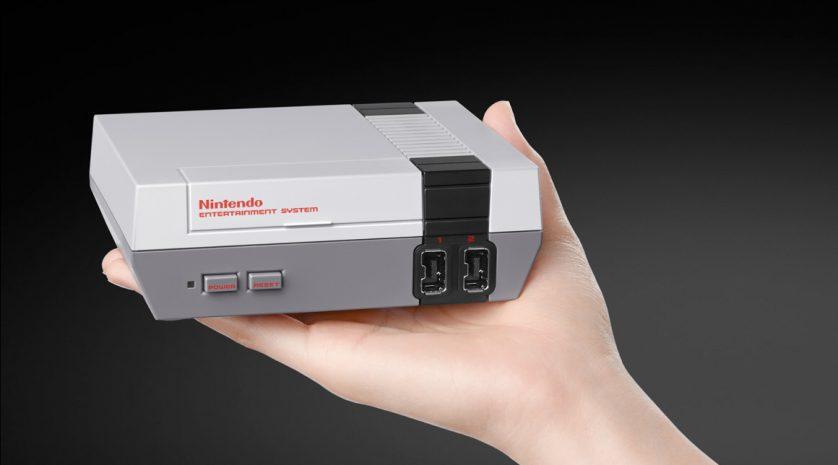 NES Classic hand