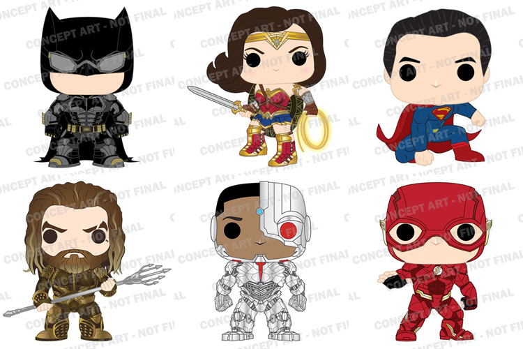 DC Collectibles Justice League Funko Pops