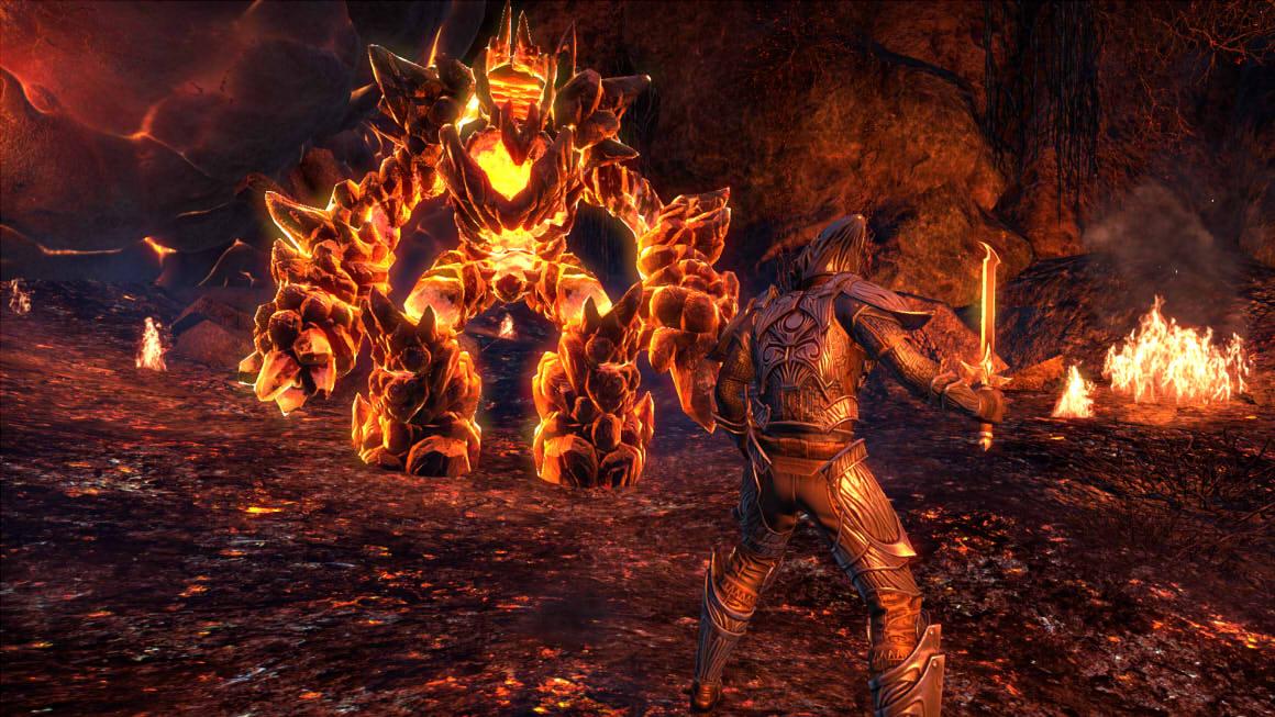 ESO Morrowind Lava fight