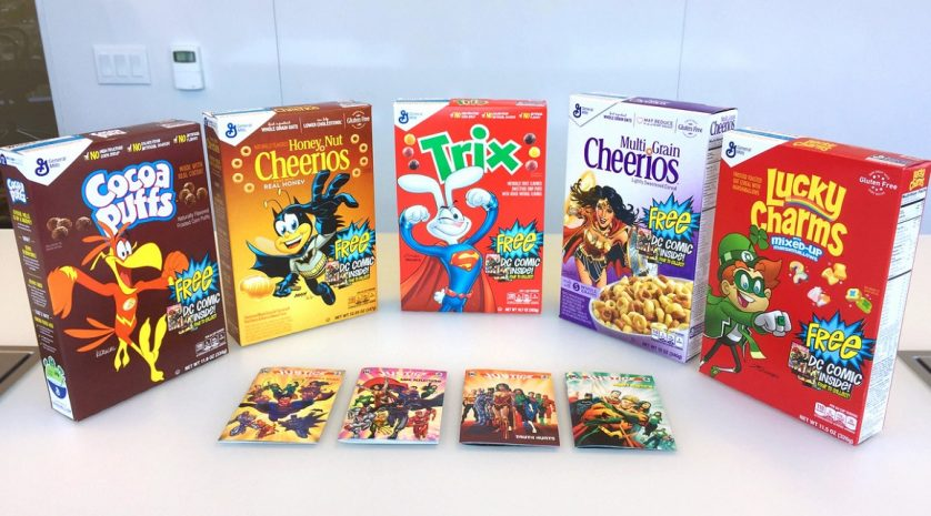 dc cereal boxes