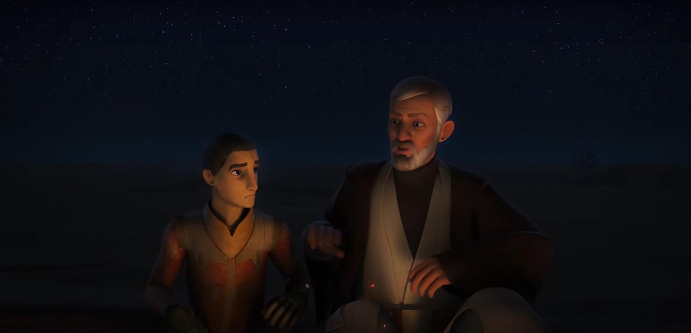 Star Wars Rebels 3.19 Obi-Wan Kenobi Ezra