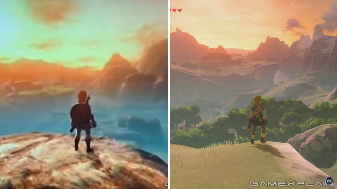 GameXplain Zelda comparison