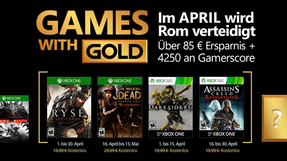 April Games with Gold leak