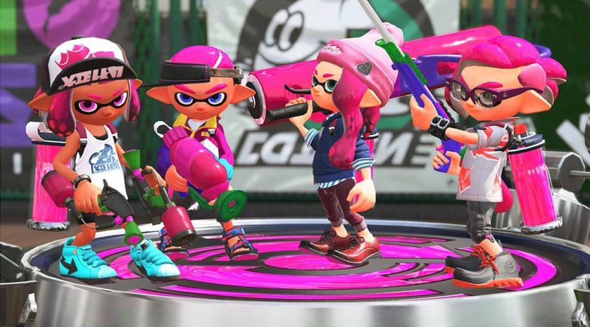 Splatoon 2 pink team