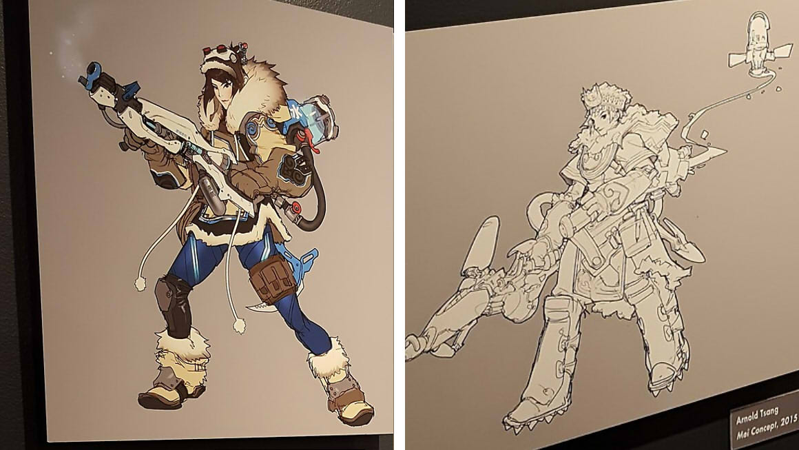 Overwatch Character Design Concept Art : Overwatch s adorable mei used to be a badass bounty hunter