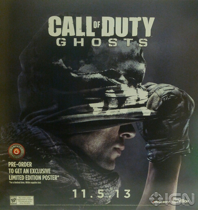 Here Be Porpoises Call Of Duty Ghosts: GameStop Promotional Poster Outs Call Of Duty: Ghosts